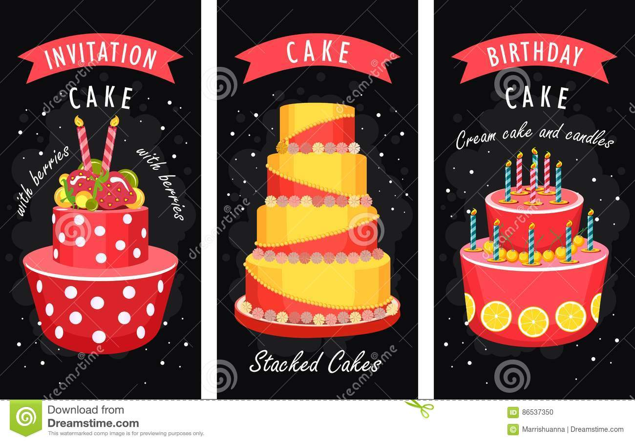 Cake Business Card Stock Vector Illustration Of Design 86537350