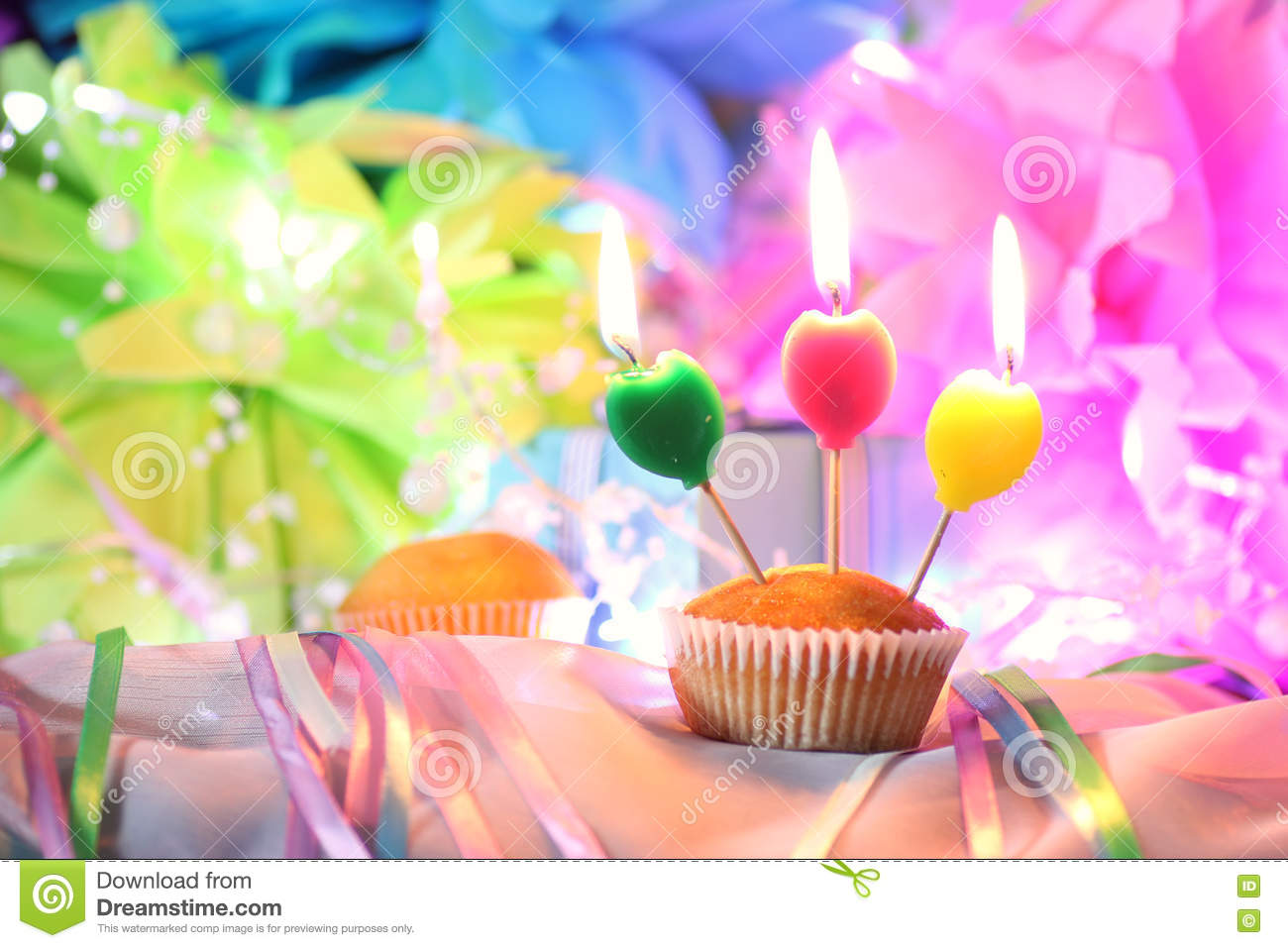 Download Cake candle celebration stock image. Image of cupcake - 81214251