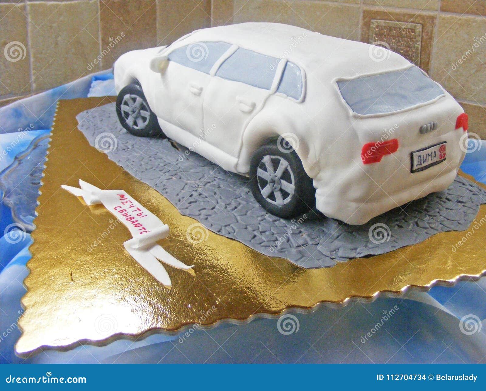 Cake car fondant 3D