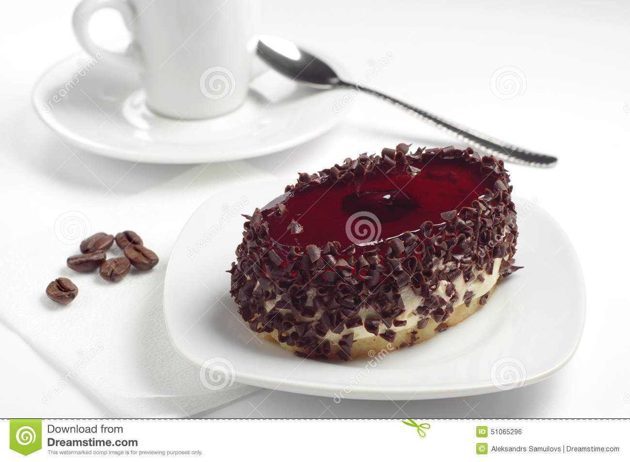 Cartoon Jelly Cake Recipe: Chocolate Cake For The Cake And Jelly Beans. Stock Image