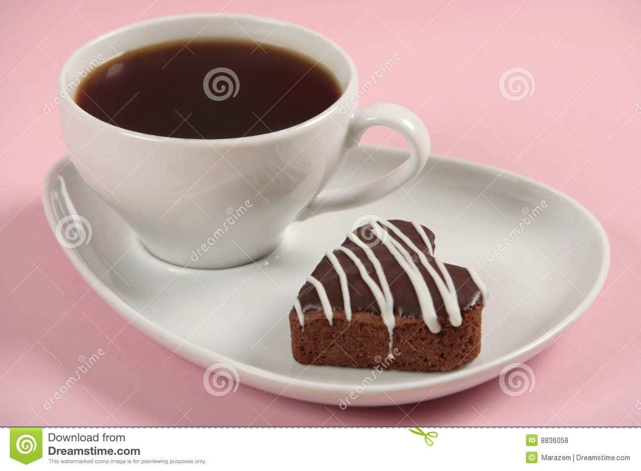 Cake And Coffee Cup Royalty Free Stock Photos - Image: 8836058