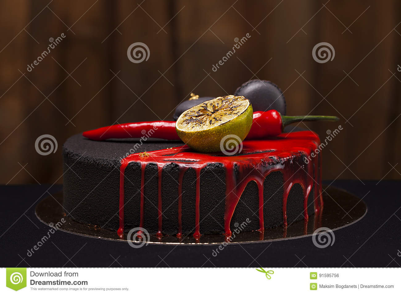 5016894ef22e Black tasty cake made by professional chef
