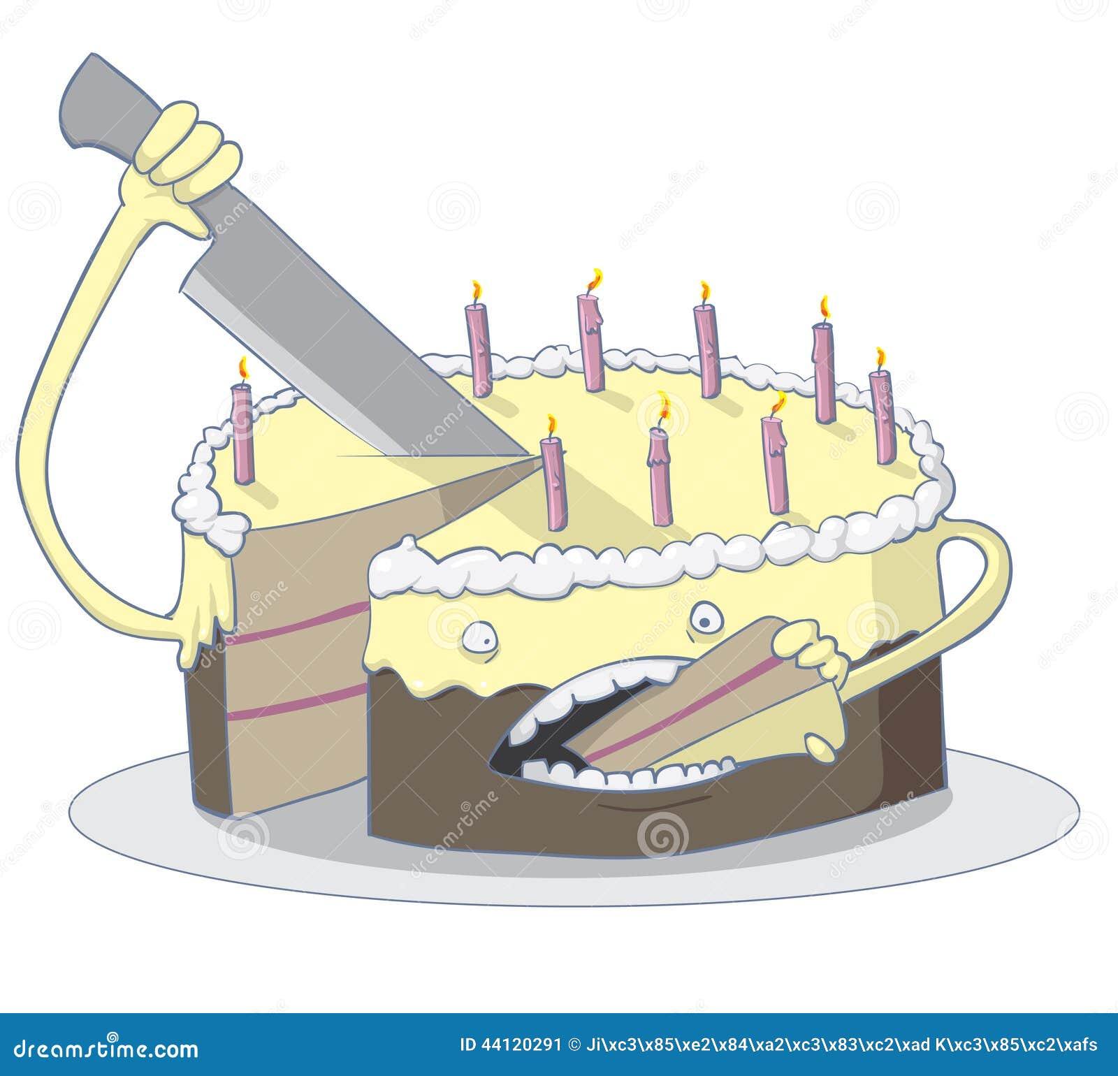 Cake Eating Itself Stock Vector Image 44120291