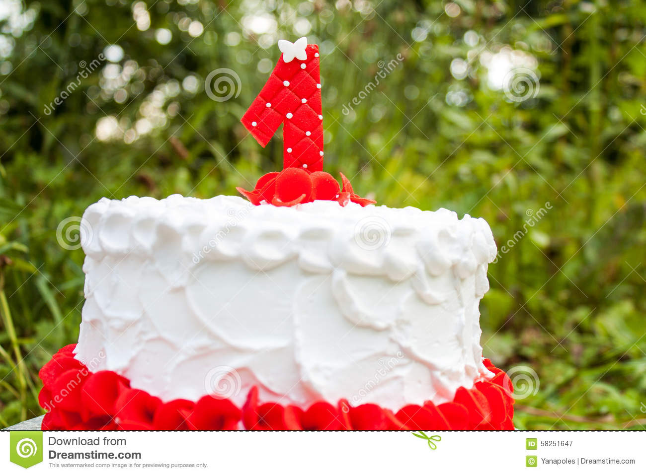 Cake For The First Birthday Stock Illustration Illustration Of