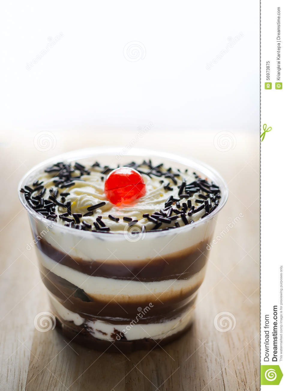 Decorating Plastic Tumblers Cake Of Fresh Milk In Plastic Cups Delicious Decorated With Whip
