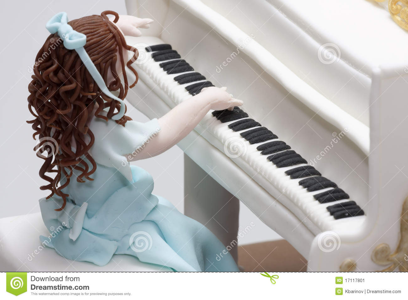 Cake Girl Playing Grand Piano Stock Image Image Of Food