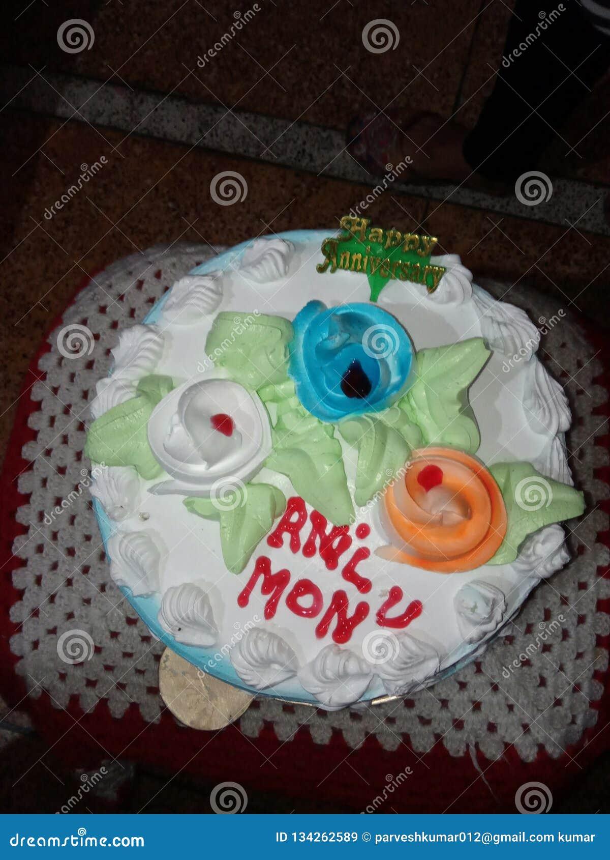 Cake Stock Image Image Of Happy Anniversary Cake 134262589