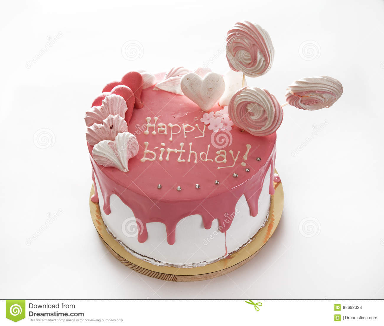 Cake Happy Birthday Stock Photo Image Of Chocolate Biscuit 88692328