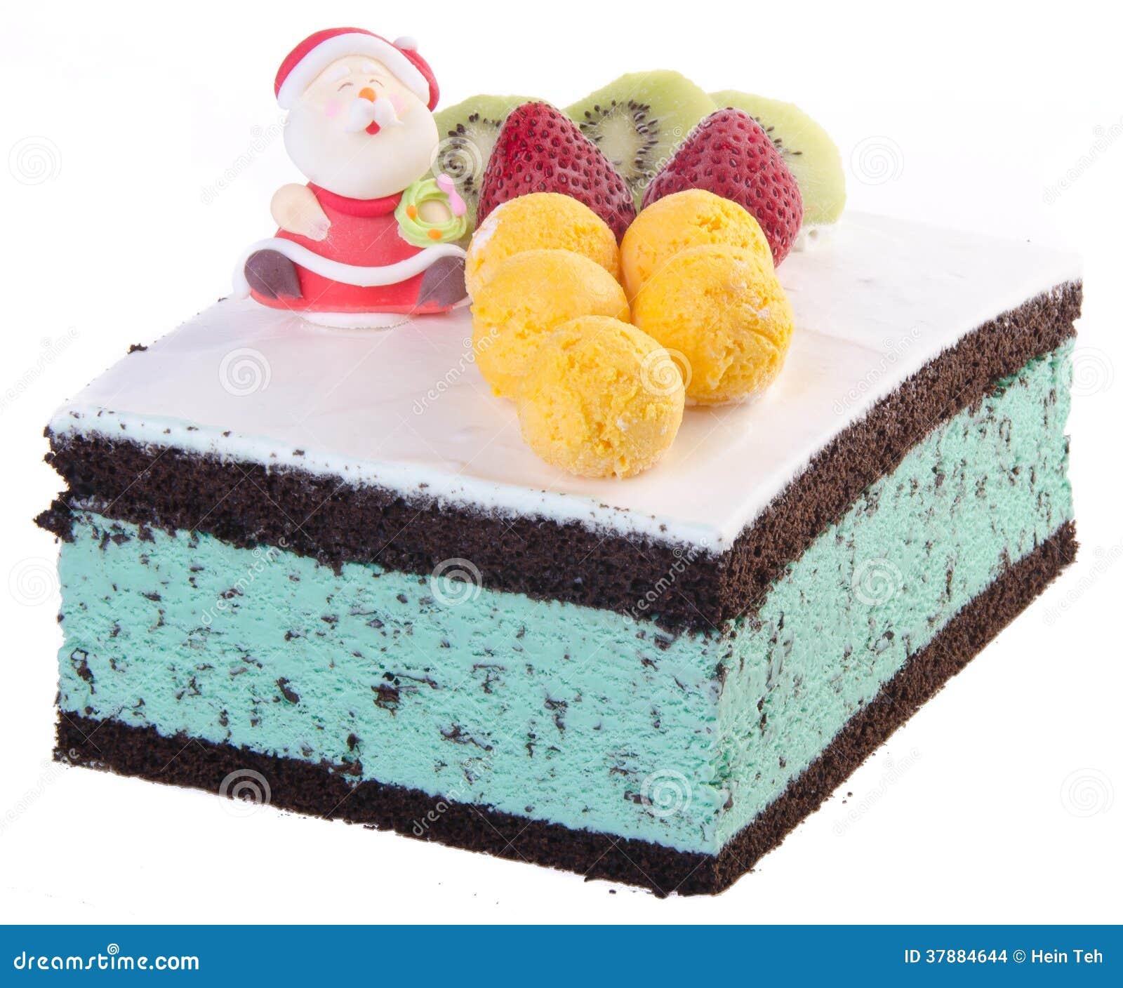 Cake, het roomijscake van Kerstmis