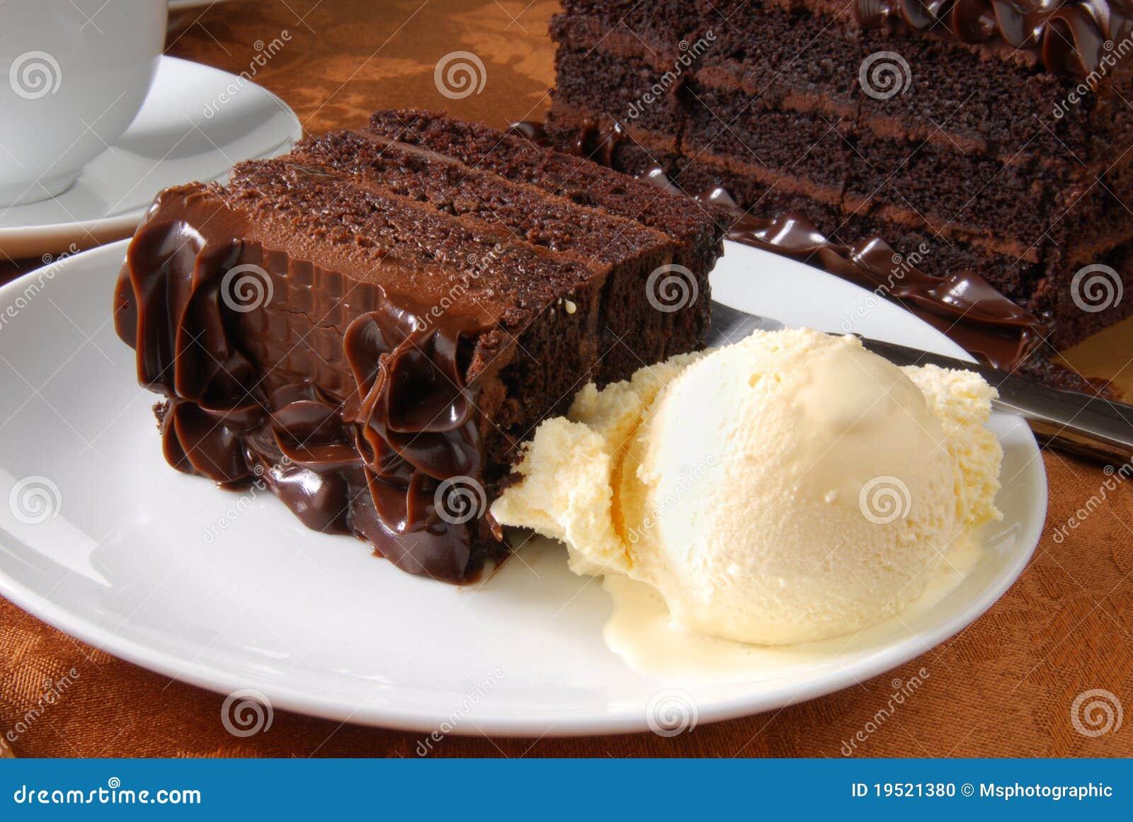Cake And Ice Cream Stock Photo - Image: 19521380