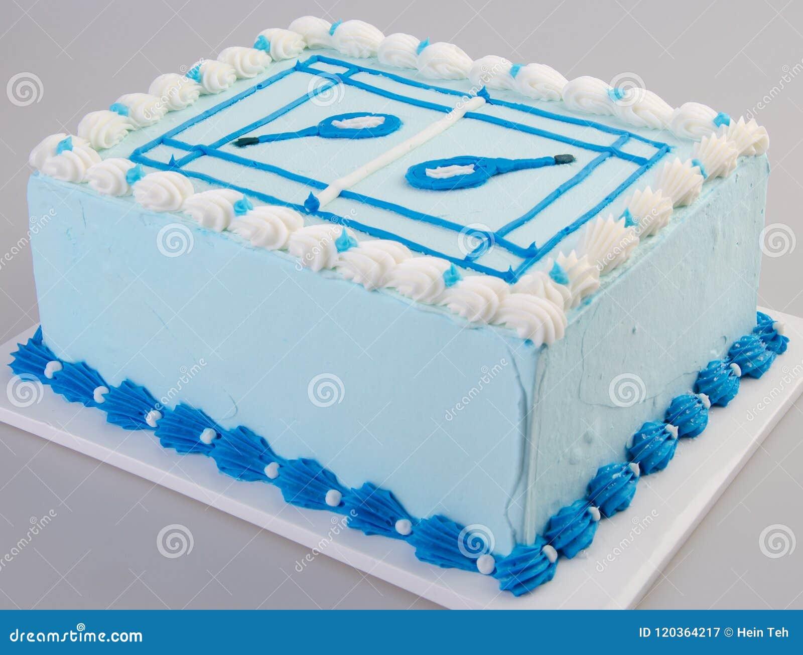 Cake Ice Cream On Background