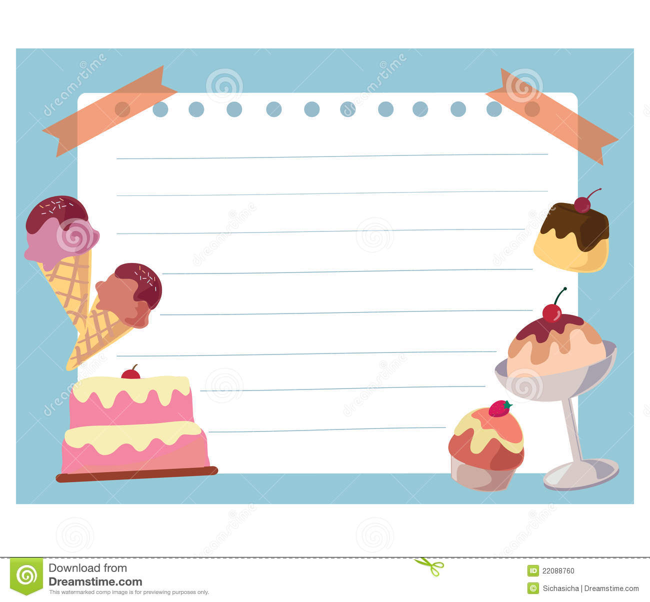 Download Cartoon Ice Cream Wallpaper Gallery: Cake And Ice Cream Frame Background Stock Illustration