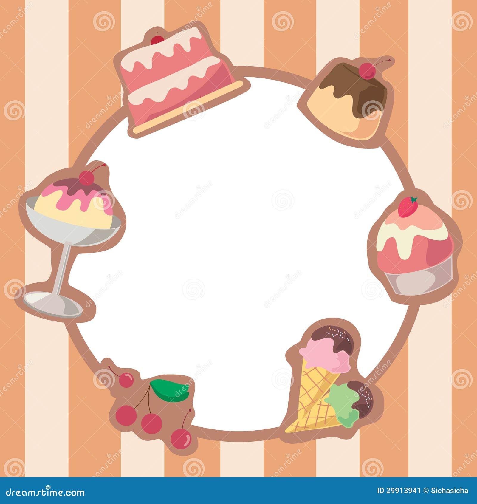 Cake And Ice Cream Frame Stock Image Image 29913941