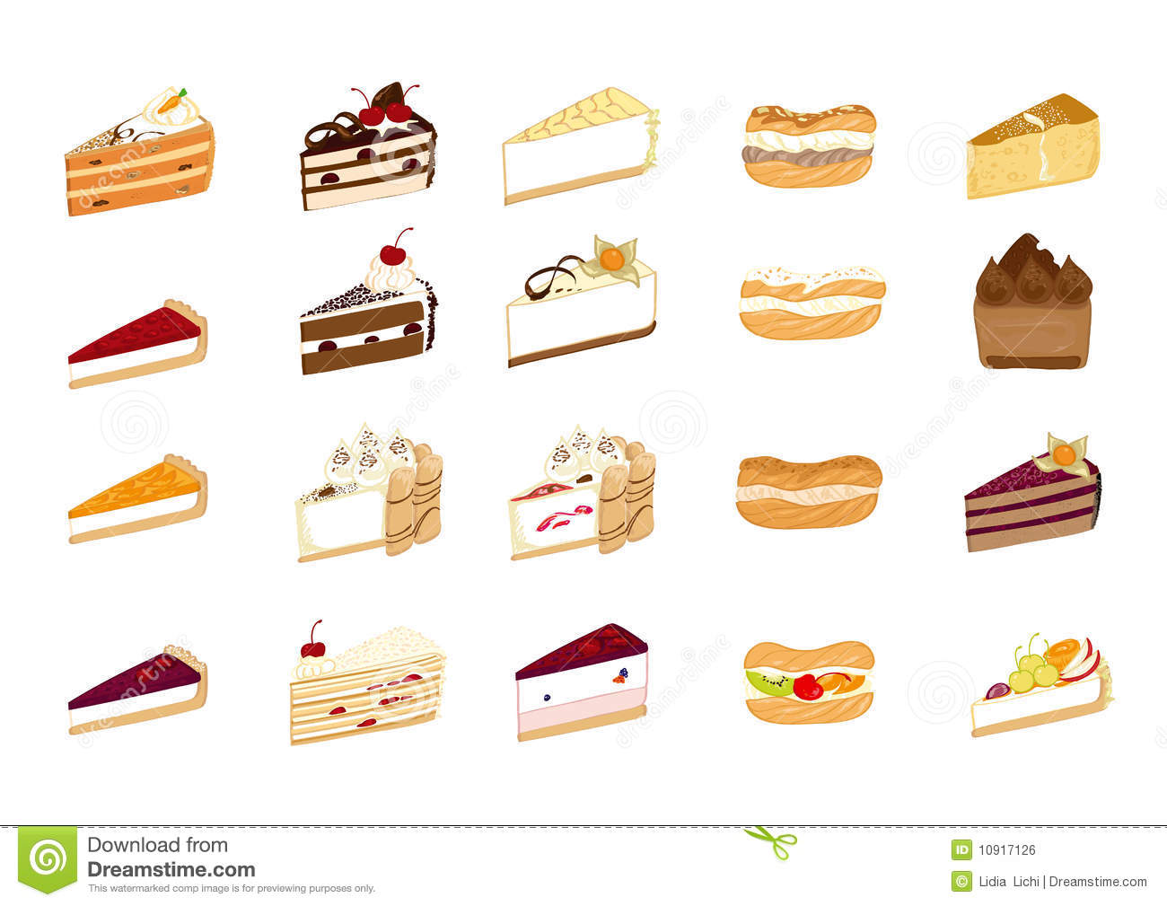 Cake Illustrations Stock Vector. Illustration Of Desert