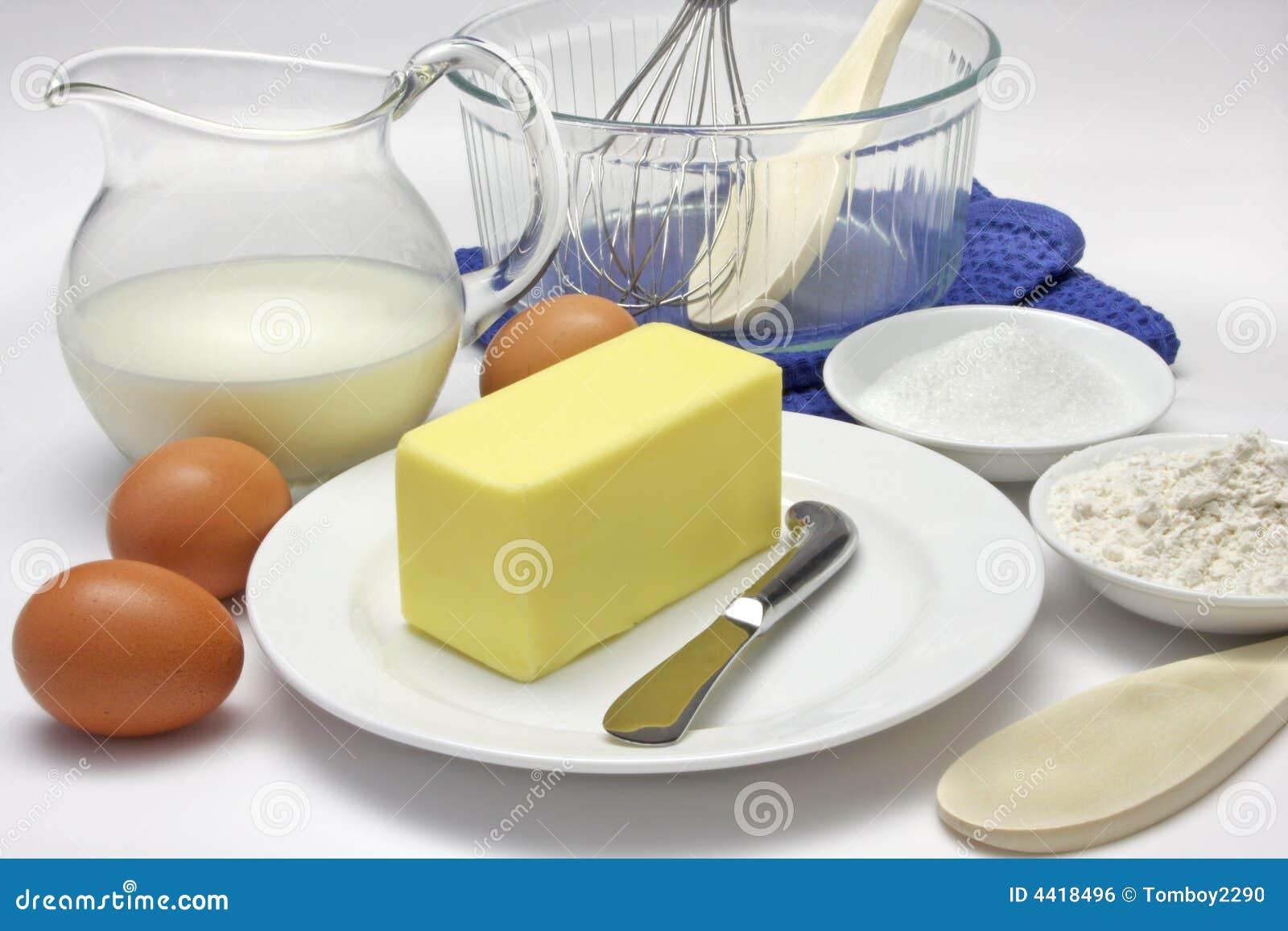 cake ingredients stock photo image of white tools