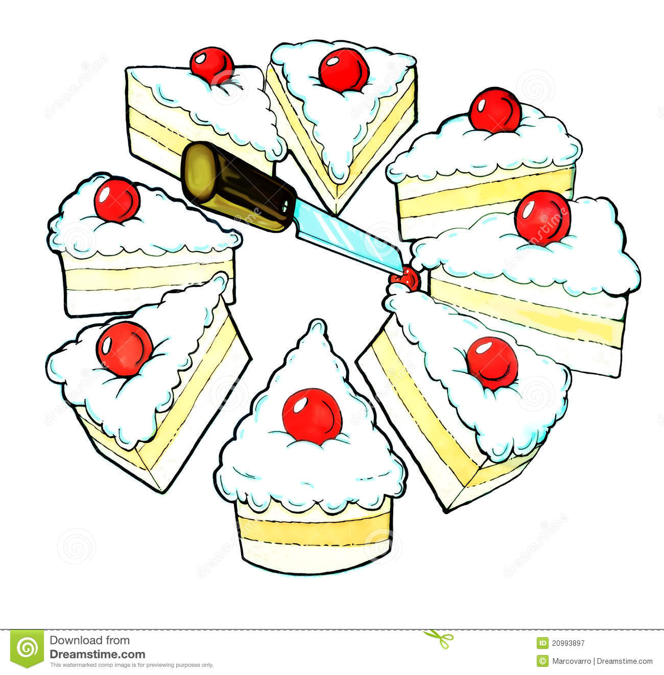 Cake Knife Clipart : Cake And Knife Royalty Free Stock Photography - Image ...