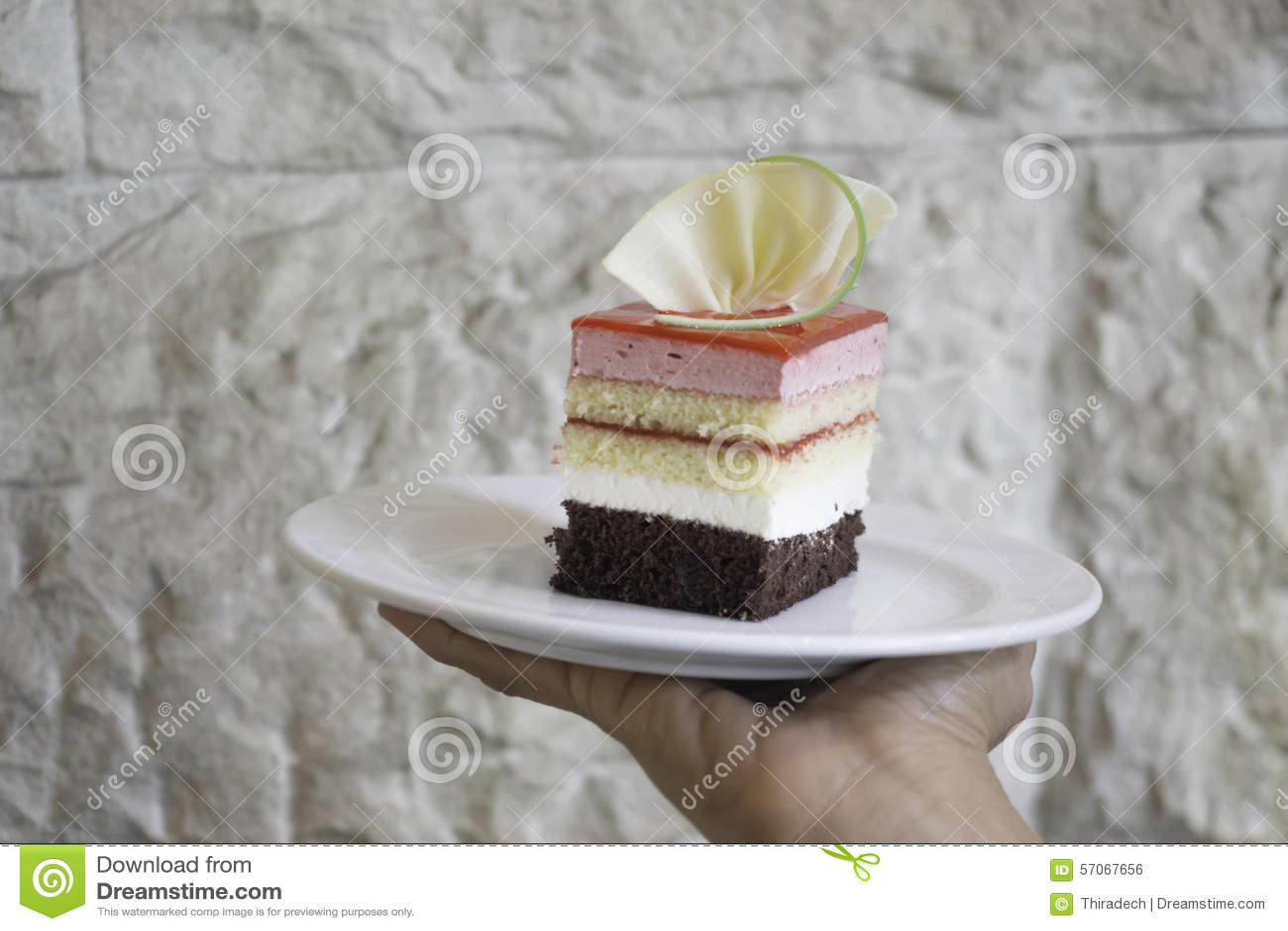Cake op een plaat
