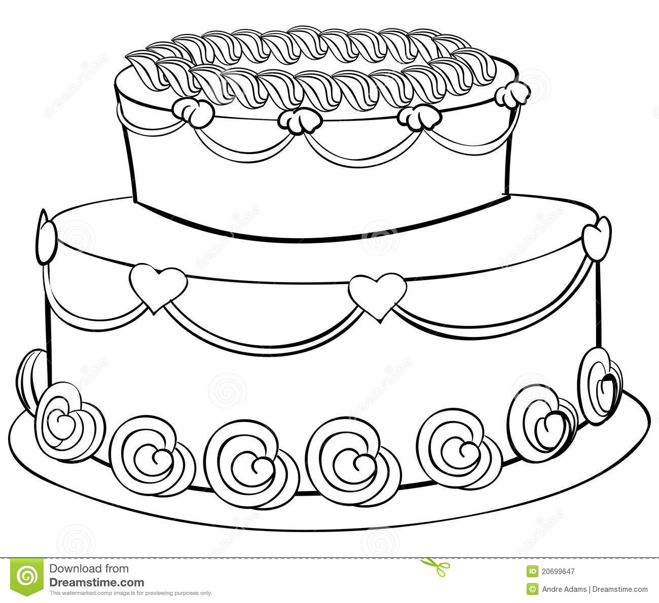 Tree coloring pages only coloring pages - Cake Outline Royalty Free Stock Photography Image 20699647