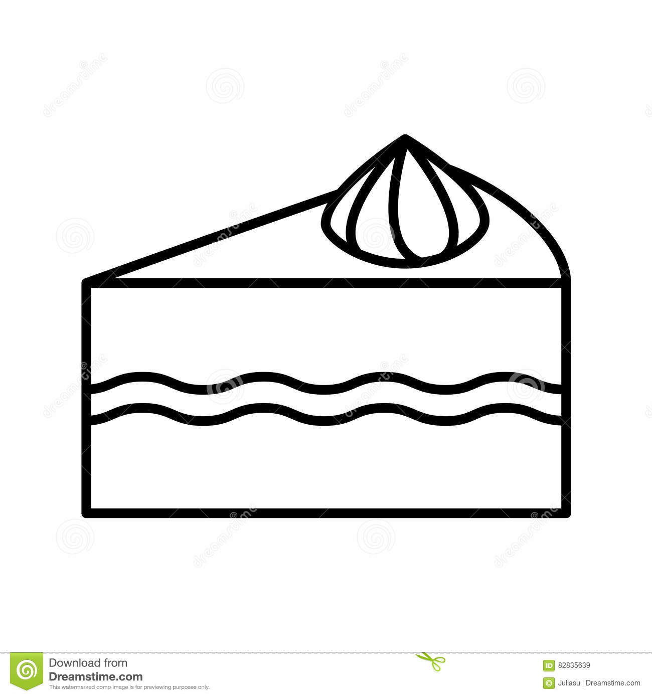 Cake Outline Icon Stock Vector - Image: 82835639