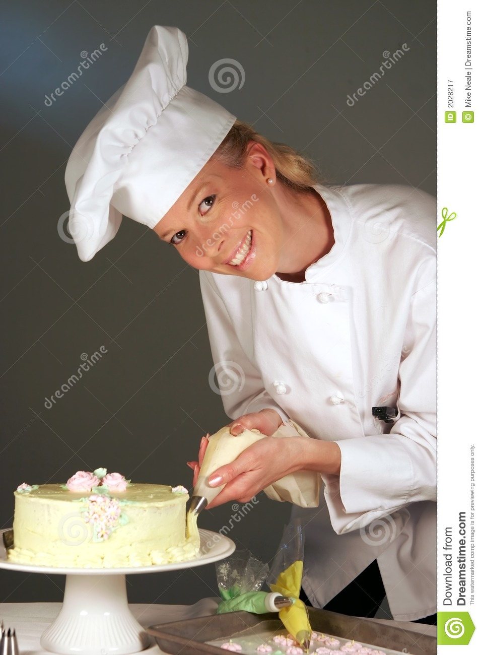 Cake Pastry Chef Stock Image Image Of Finger Baker