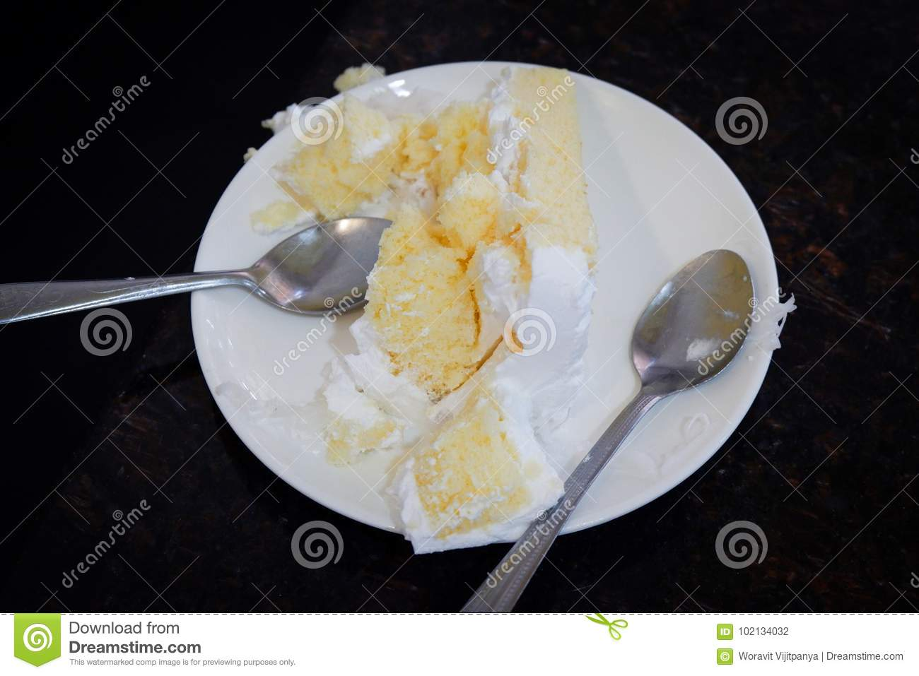 Cake on the plate