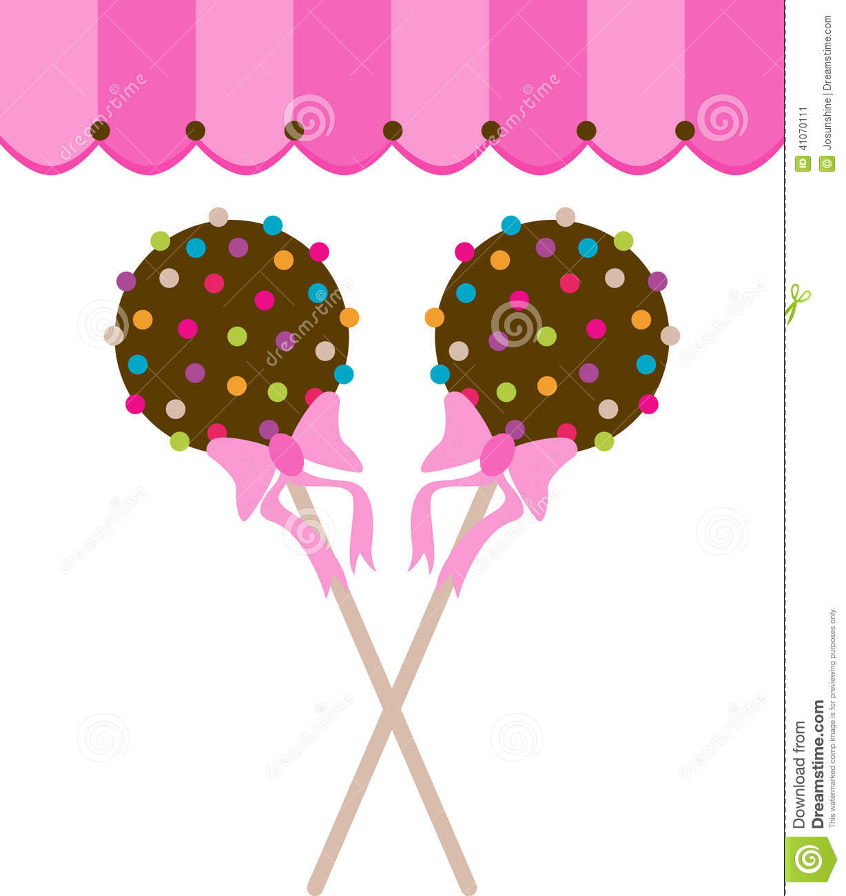 Cake Pop Clipart Free : Cake Pops With Canopy Stock Vector - Image: 41070111