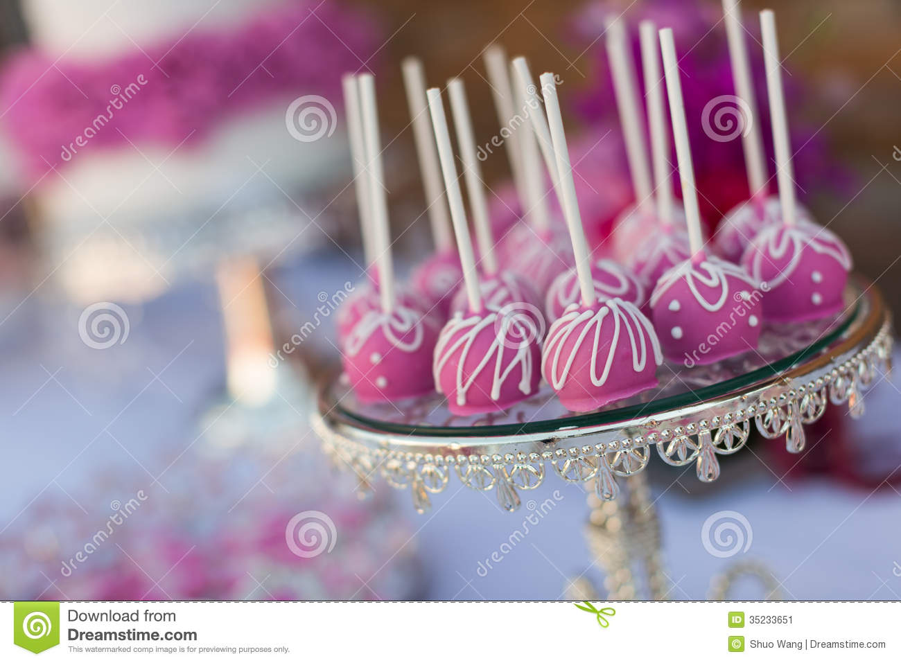 cake pops and cupcakes stock image  image of cupcakes