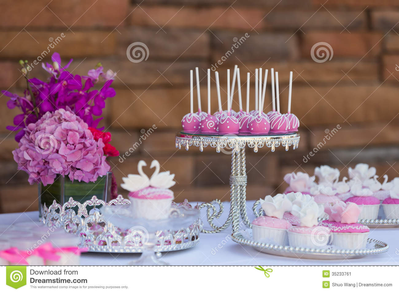 how to make wedding cake pops cake pops and cupcakes stock image image of cake baking 16044