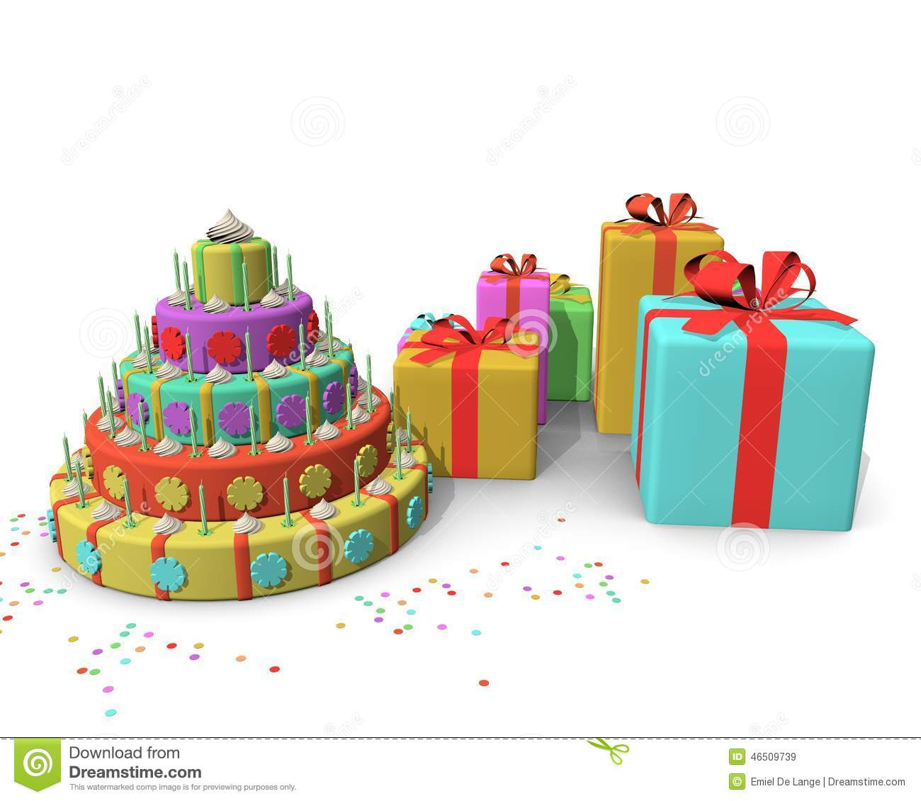 Strange Cake And Presents Stock Illustration Illustration Of Happiness Funny Birthday Cards Online Sheoxdamsfinfo