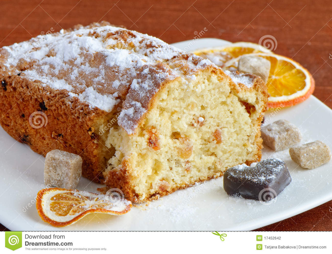 Download Cake with raisins stock photo. Image of sponge, confectionery - 17452642