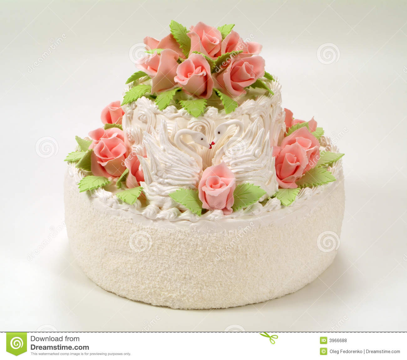 Cake Images Rose : A Cake With Roses. Royalty Free Stock Photos - Image: 3966688