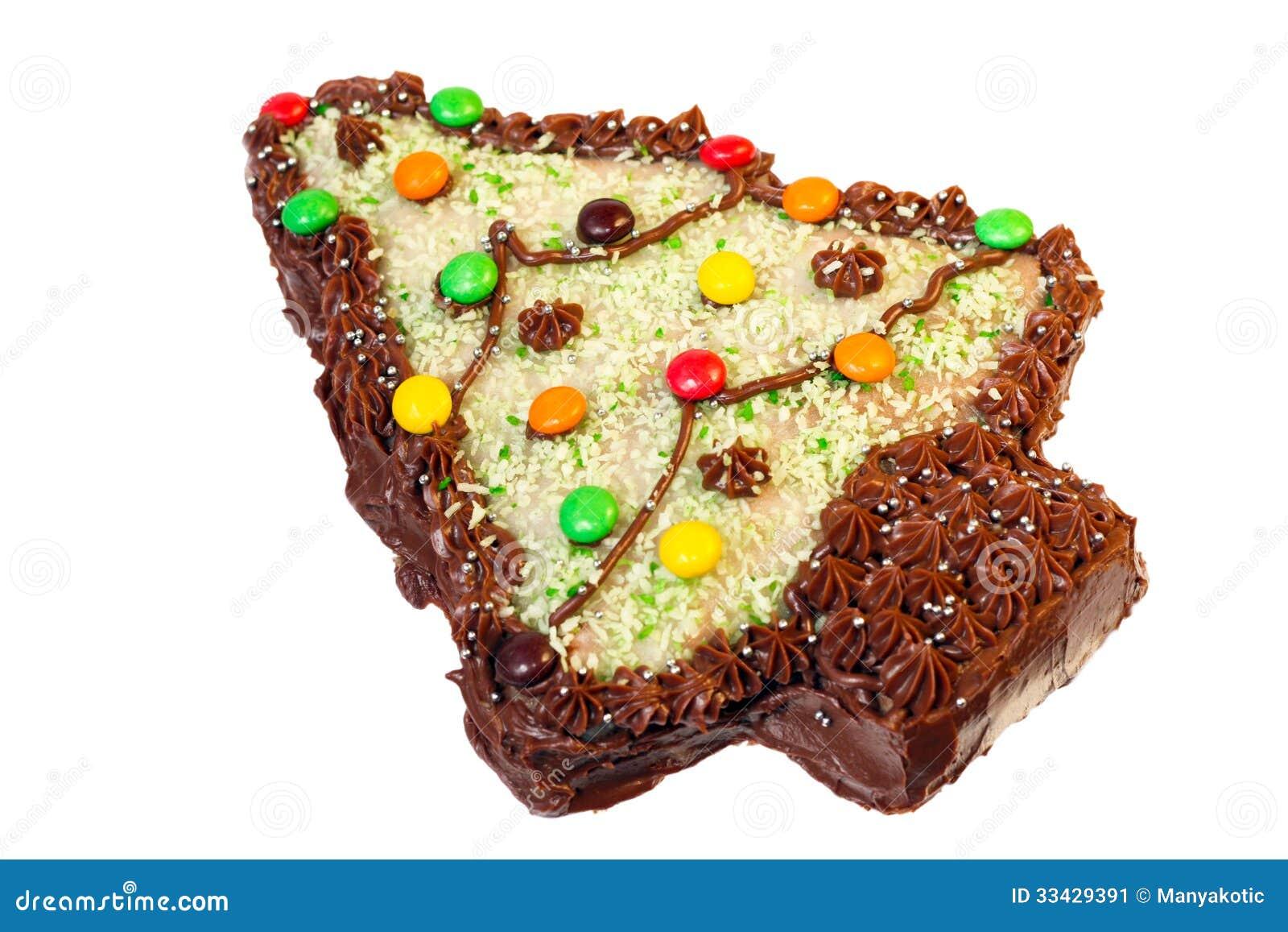 Cake Shaped And Decorated Like Christmas Tree Stock Image ...
