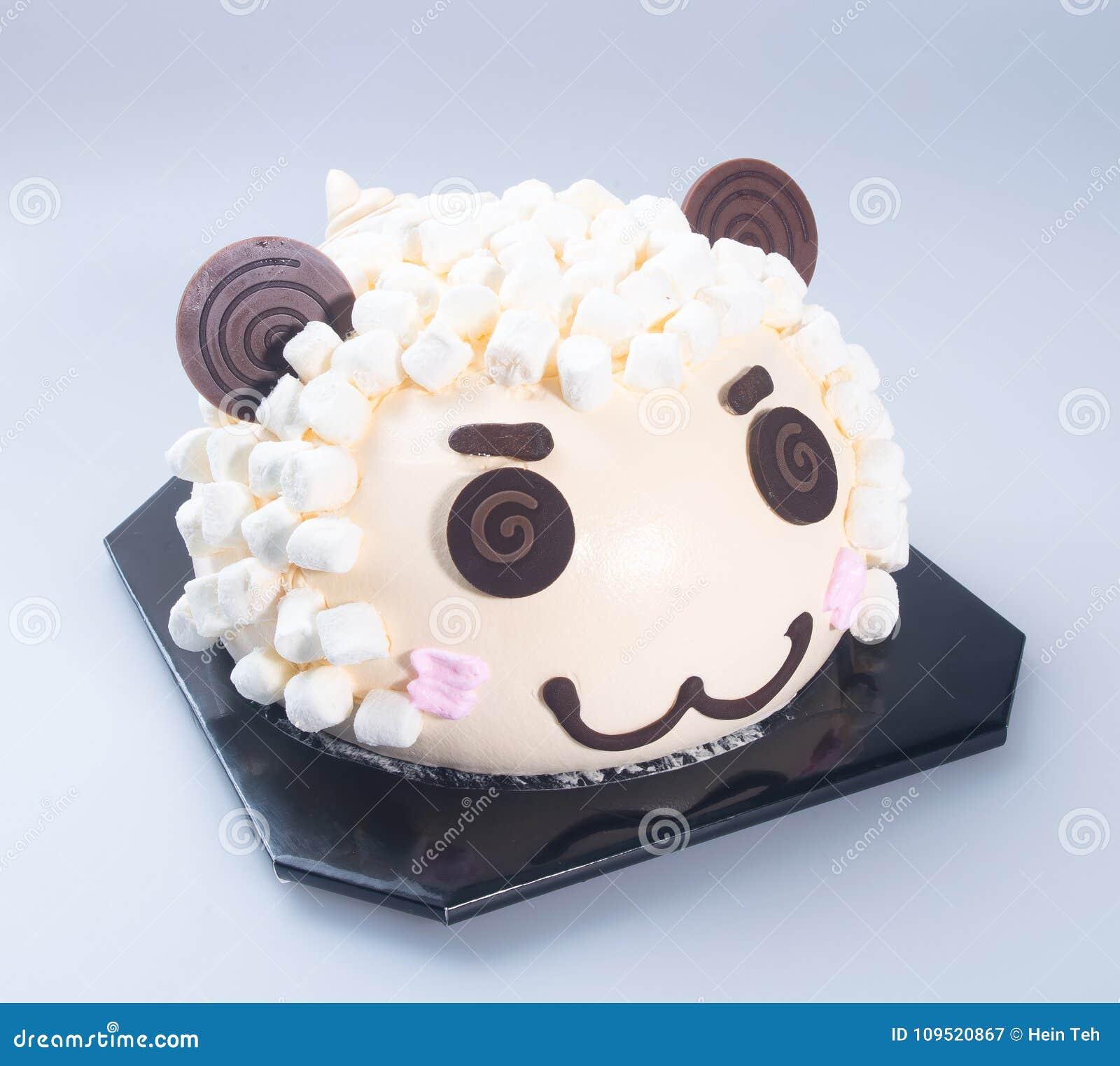 Cake Or Sheep Birthday Cake On A Background Stock Image Image Of