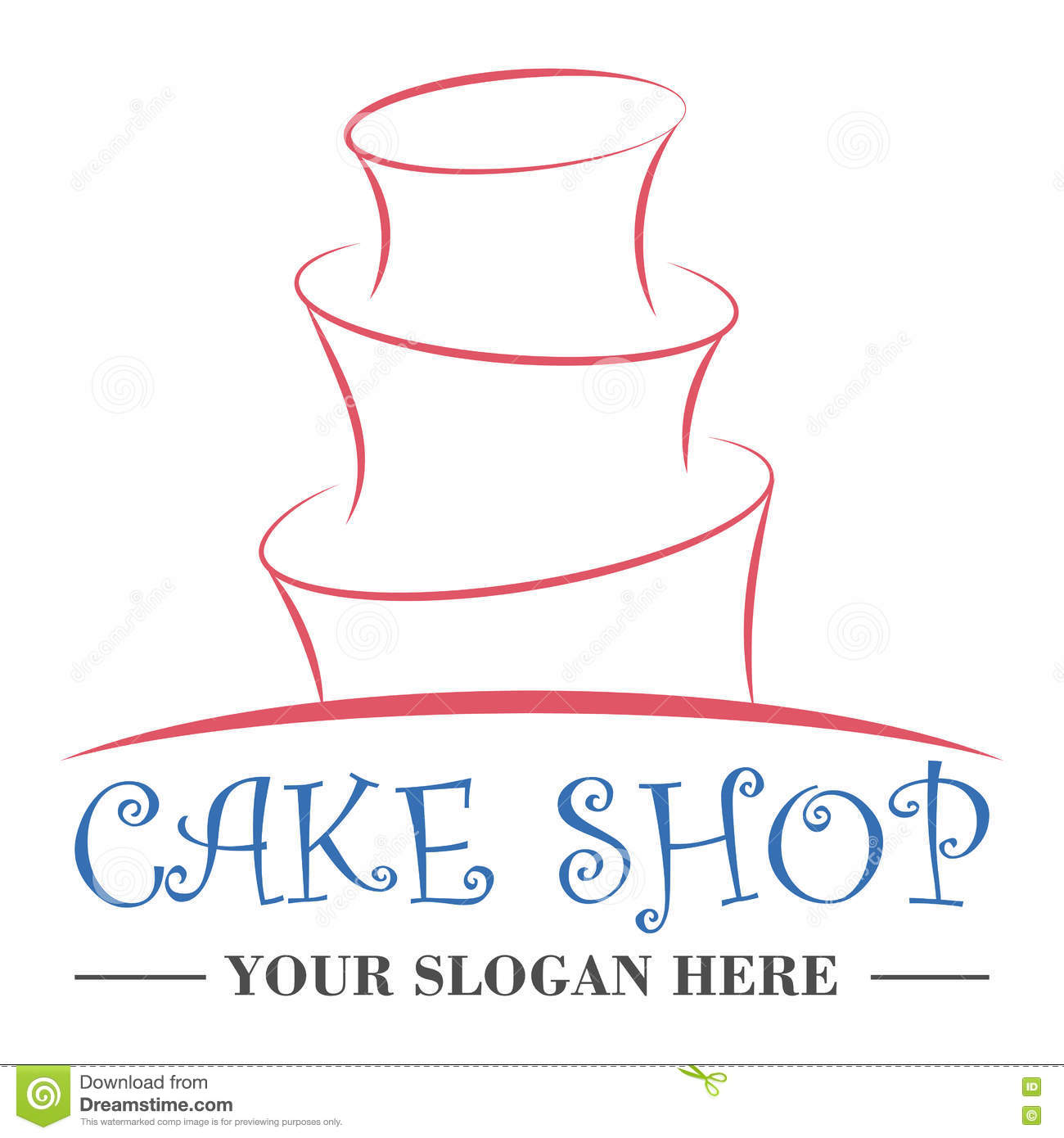 Cake Shop Logo Design Template Stock Vector - Illustration of ... for Logo Design Samples Free Download  181pct