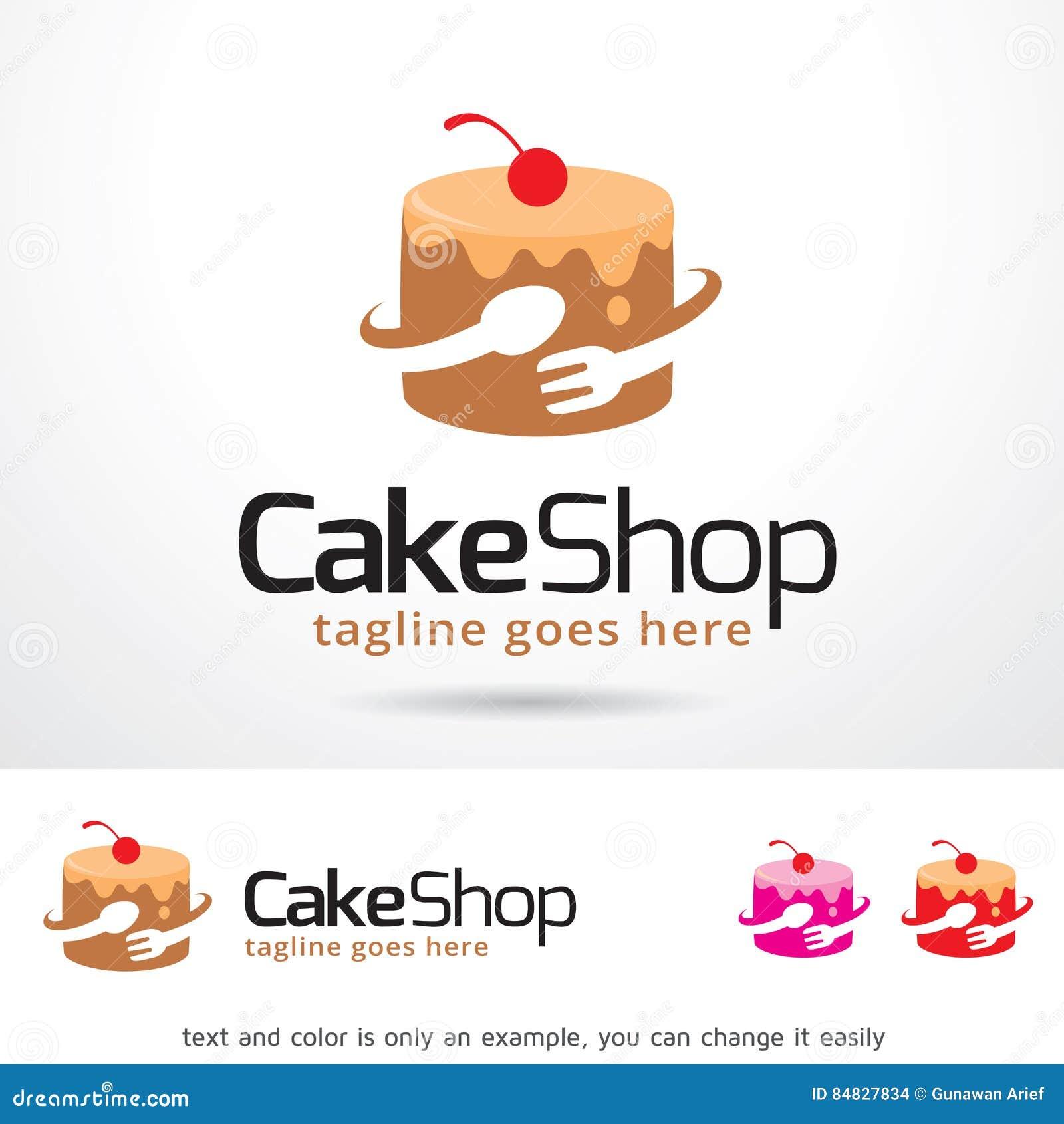 Cake Shop Logo Template Design Vector Stock Vector Illustration Of