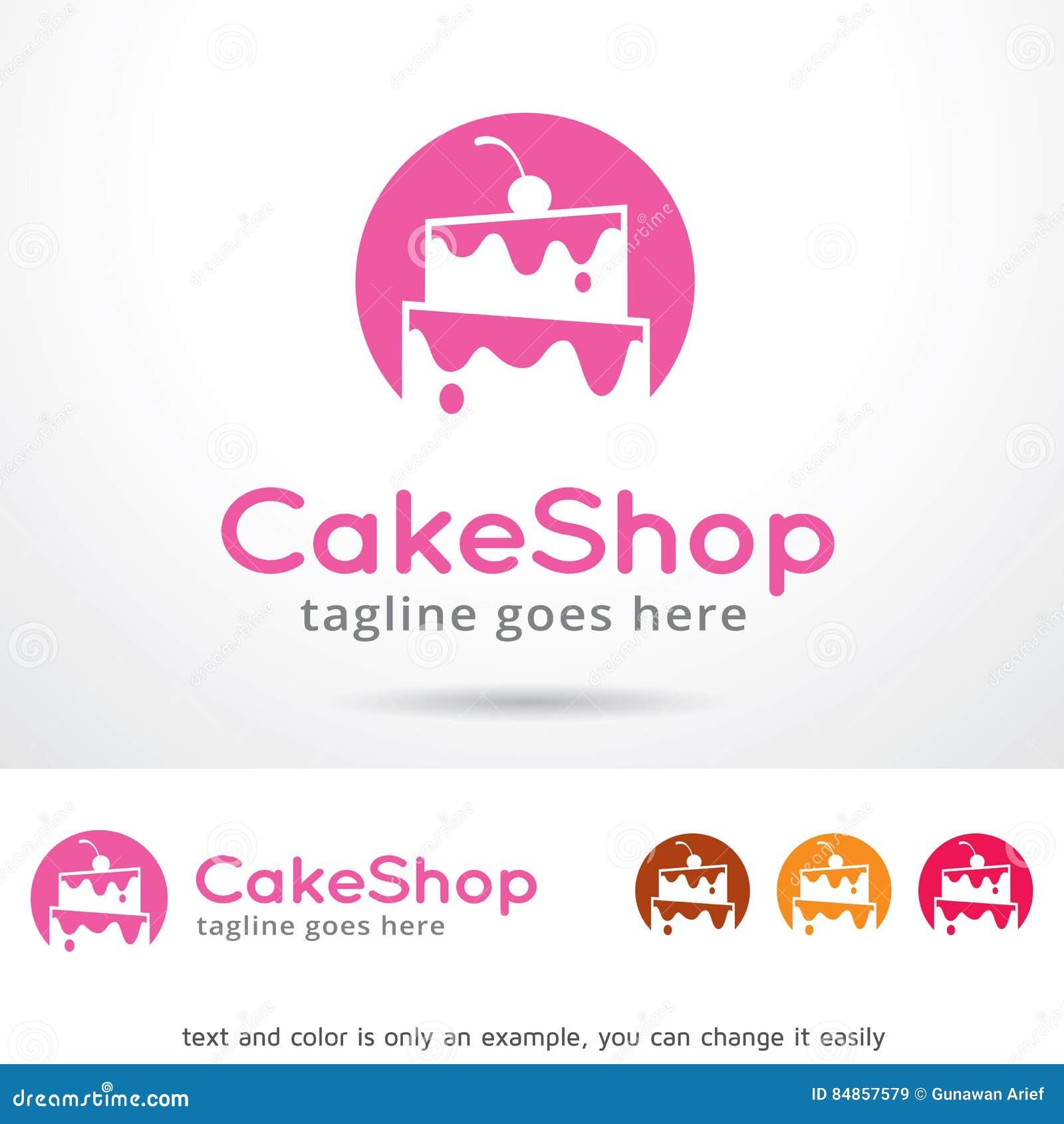 Cake Shop Logo Template Design Vector Stock Vector