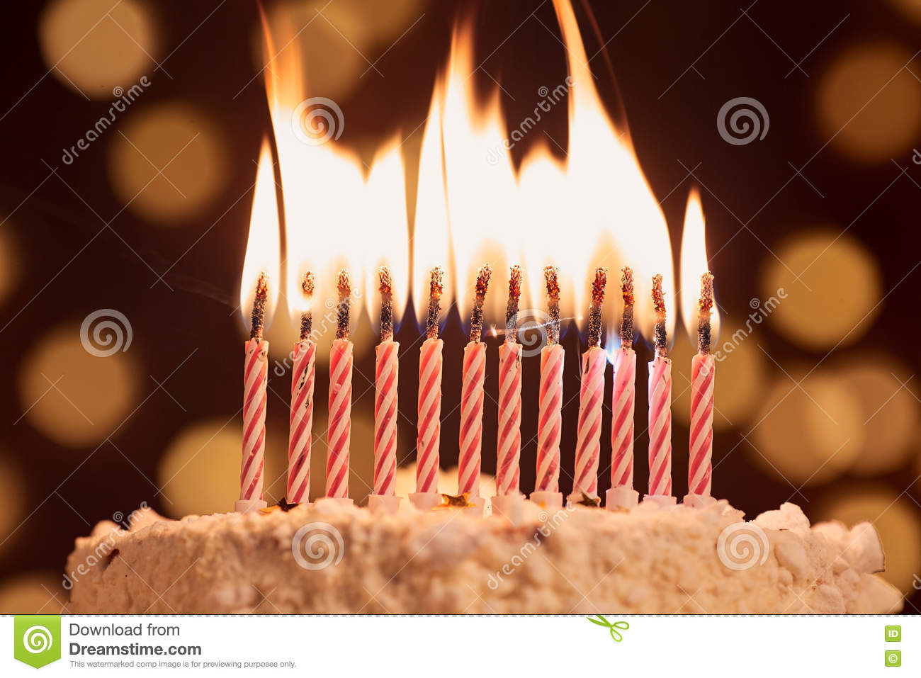 Pleasant Cake Shot On A Bokeh Background With Candles Stock Photo Image Funny Birthday Cards Online Fluifree Goldxyz