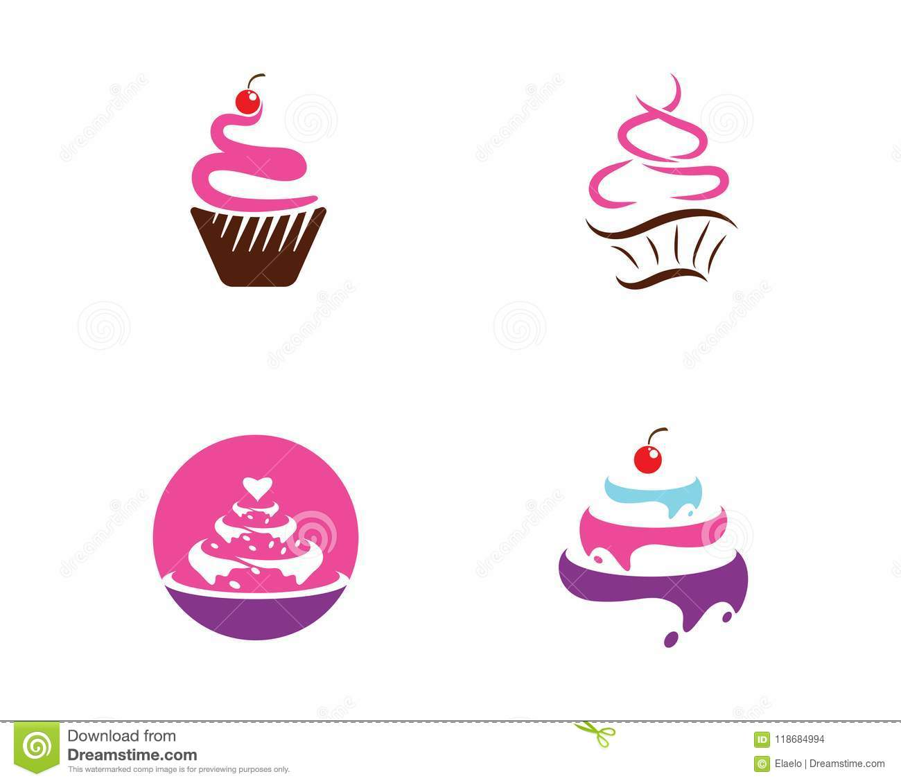 Cake Sign Icon Vector Illustration Stock Vector Illustration Of