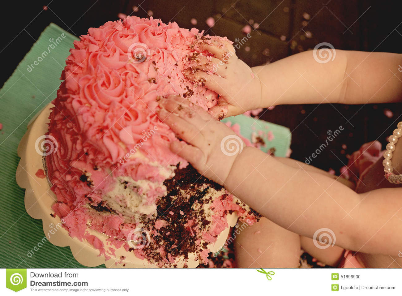 Smashed Cake Clipart : Cake Smash Stock Photo - Image: 51896930