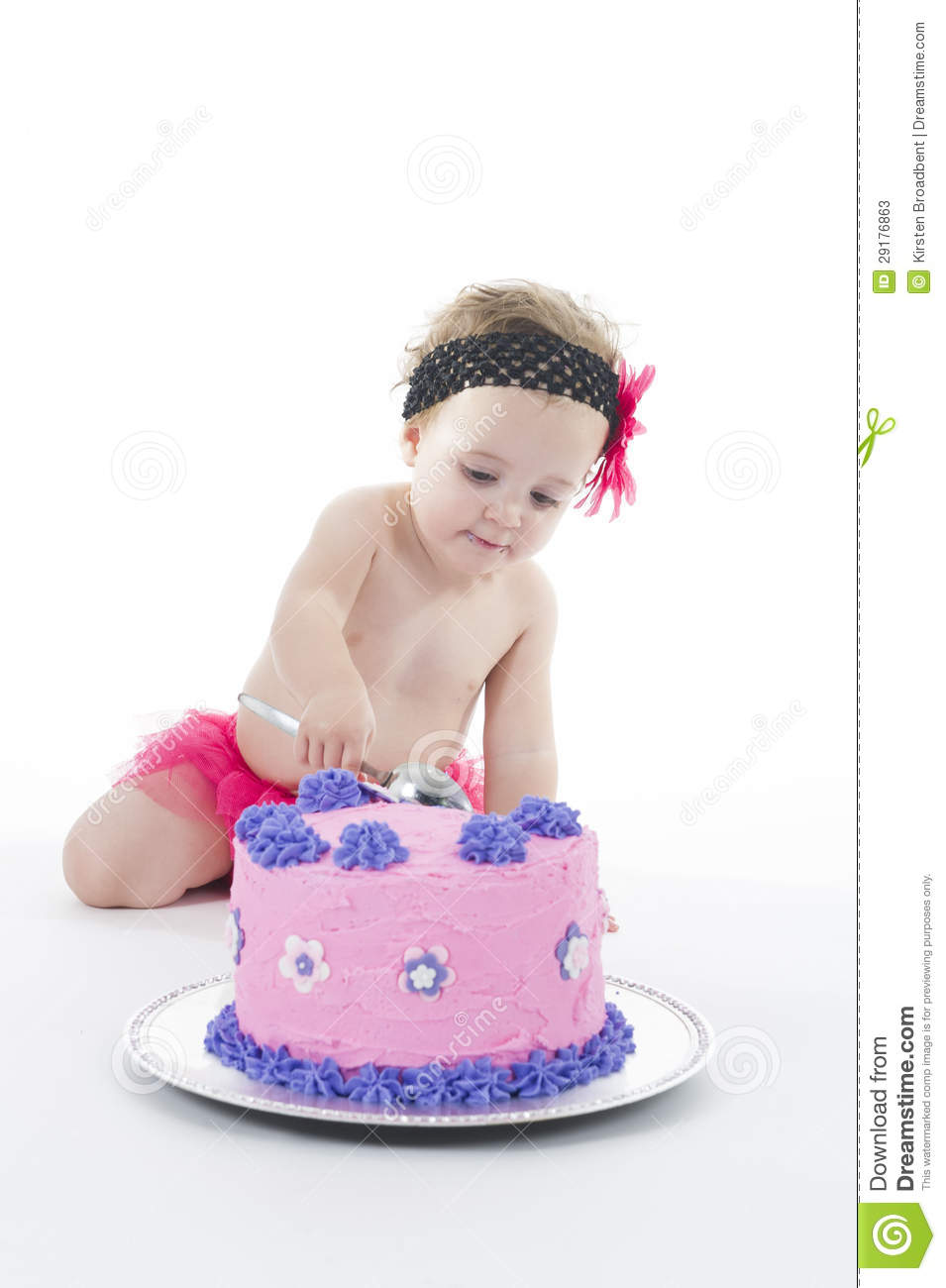 Smashed Cake Clipart : Cake Smash Shoot: Baby Girl And Big Cake! Stock Photos ...
