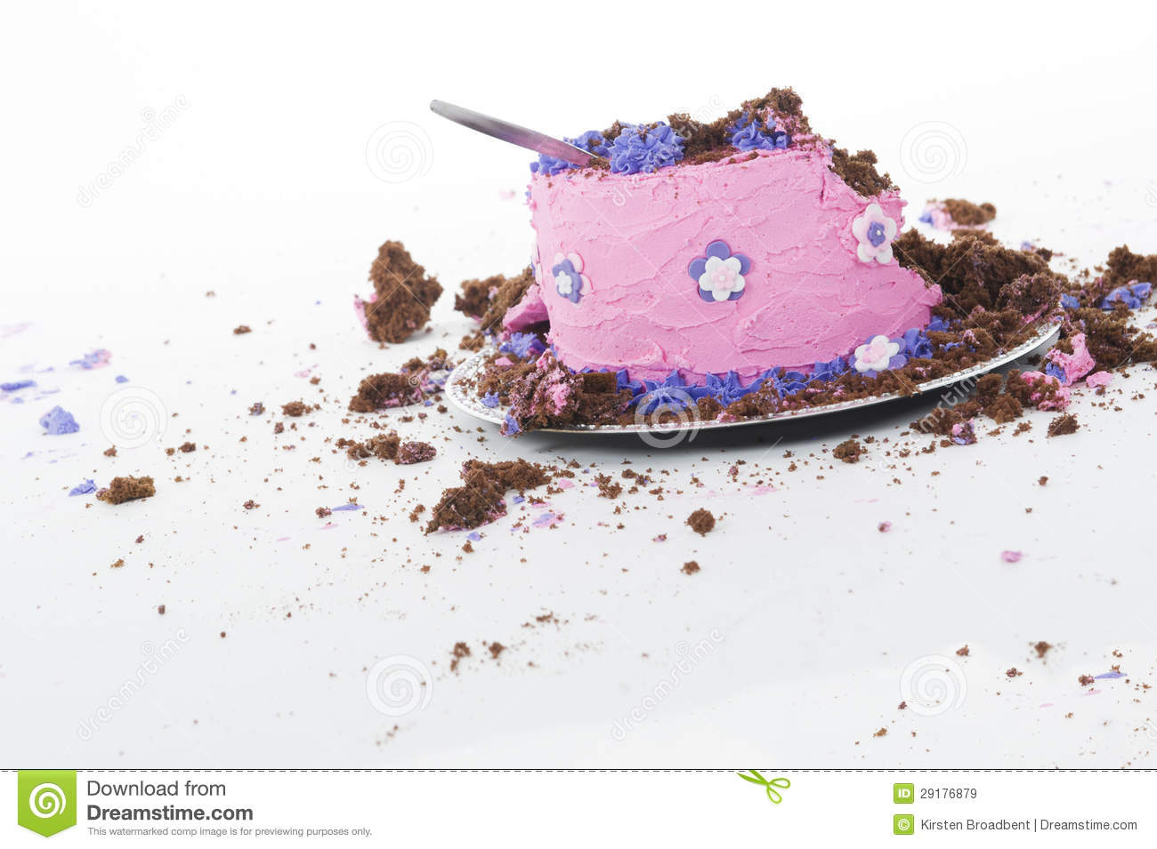 Smashed Cake Clipart : Cake Smash Shoot: Big Messy Cake After Photoshoot! Royalty ...