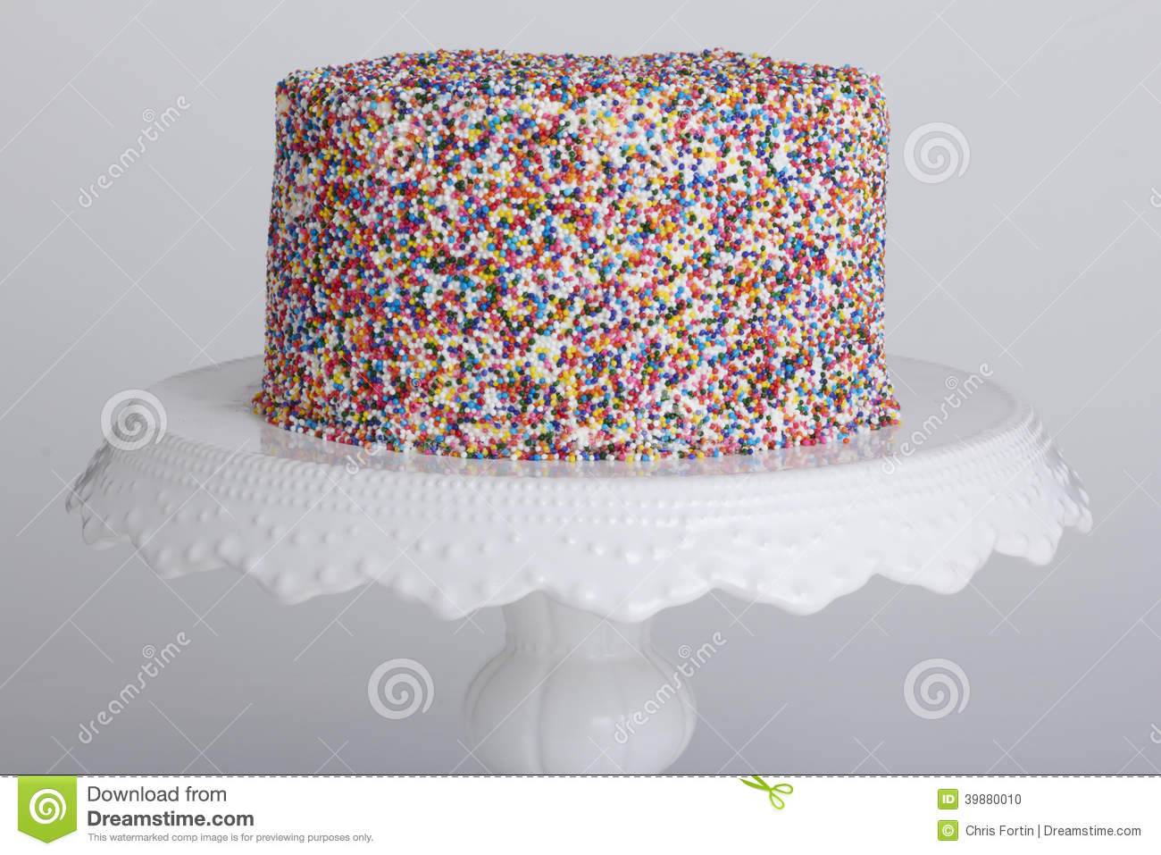 Cake with sprinkles