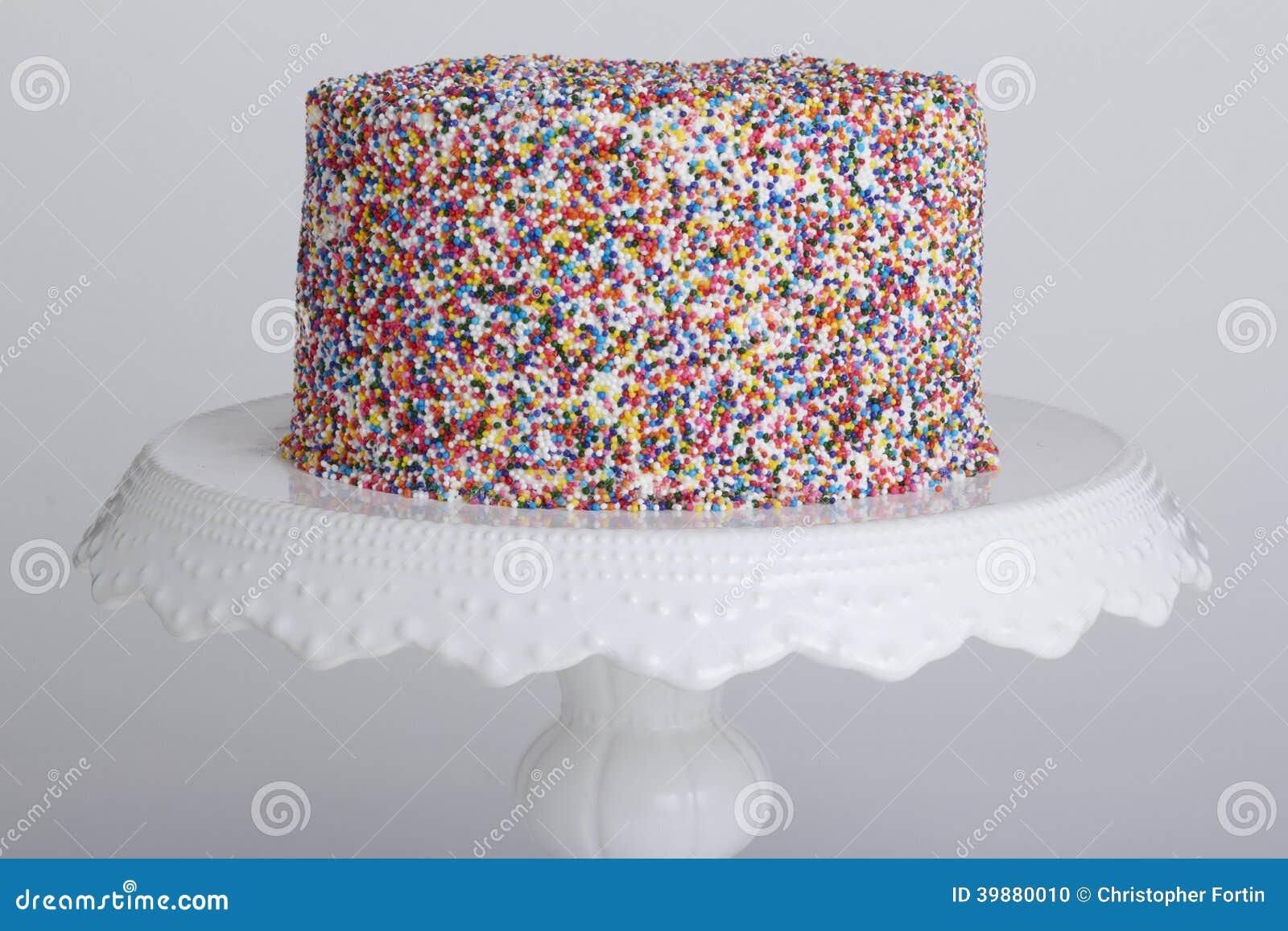 Cake With Sprinkles Stock Photo Image 39880010