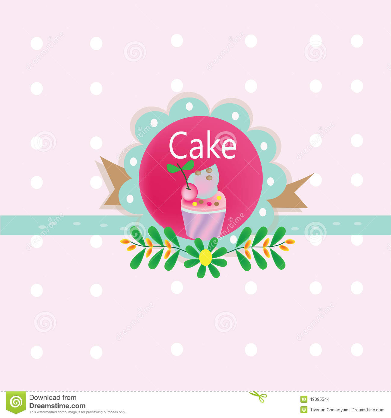Cake Sweet Logo Stock Illustration - Image: 49095544