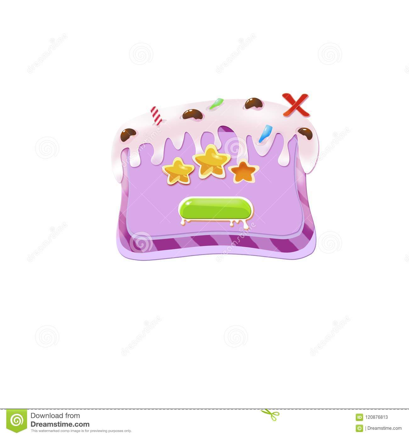 Cake Button Sweet Background For Game Stock Vector Illustration