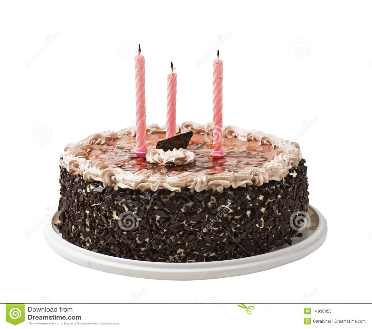 Cake And Three Candles Stock Photos Image 14930453