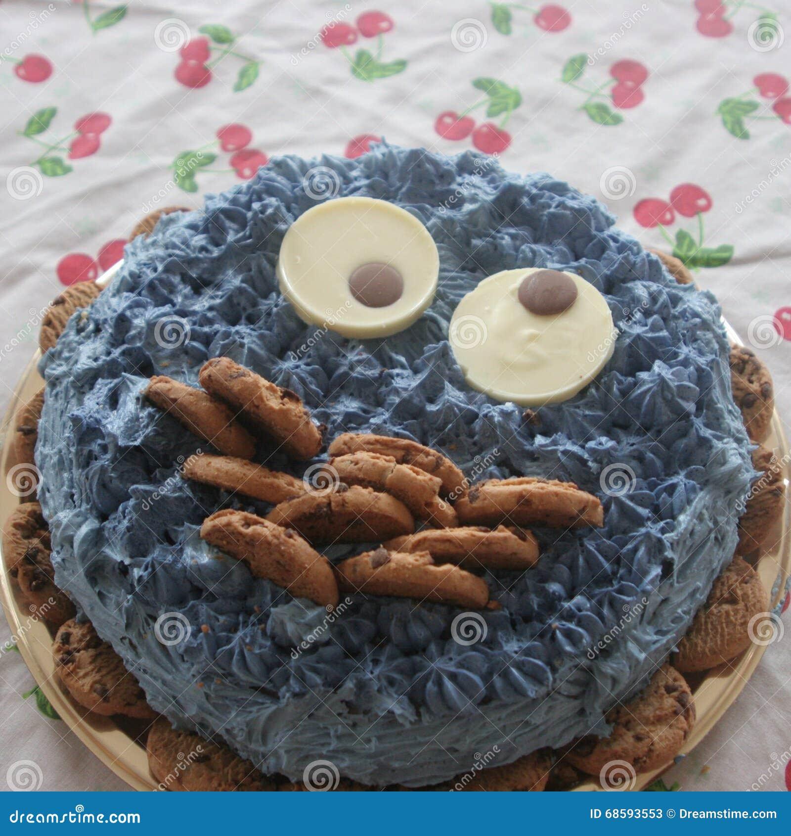 Cake van de koekjes de dierlijke chocolade