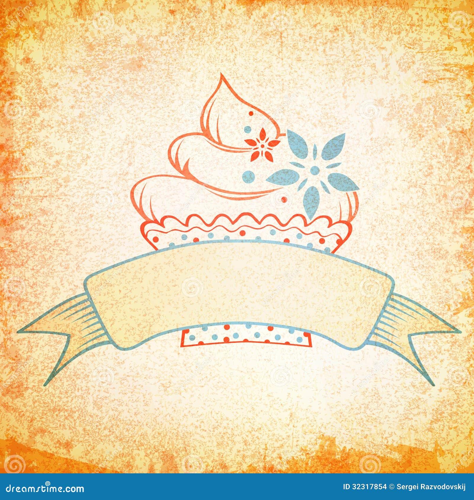 Cake Vintage Design Stock Images - Image: 32317854