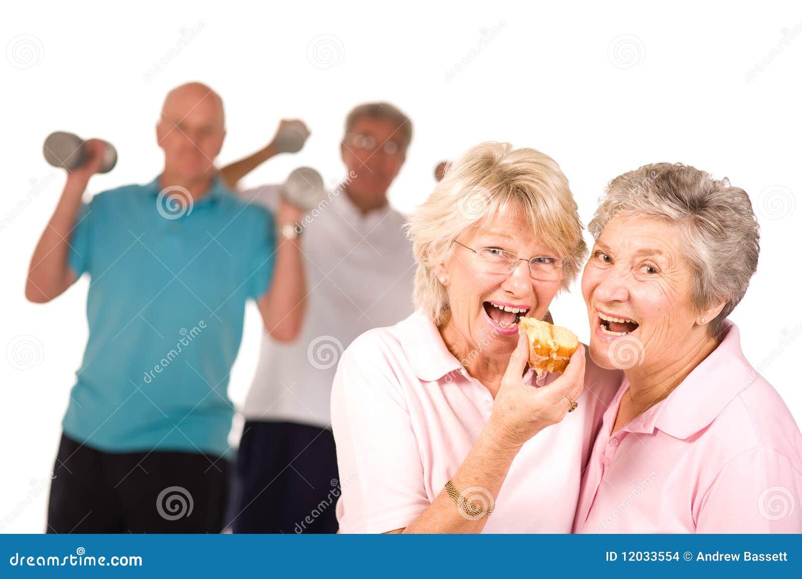 Caken som äter damtoalett, mature