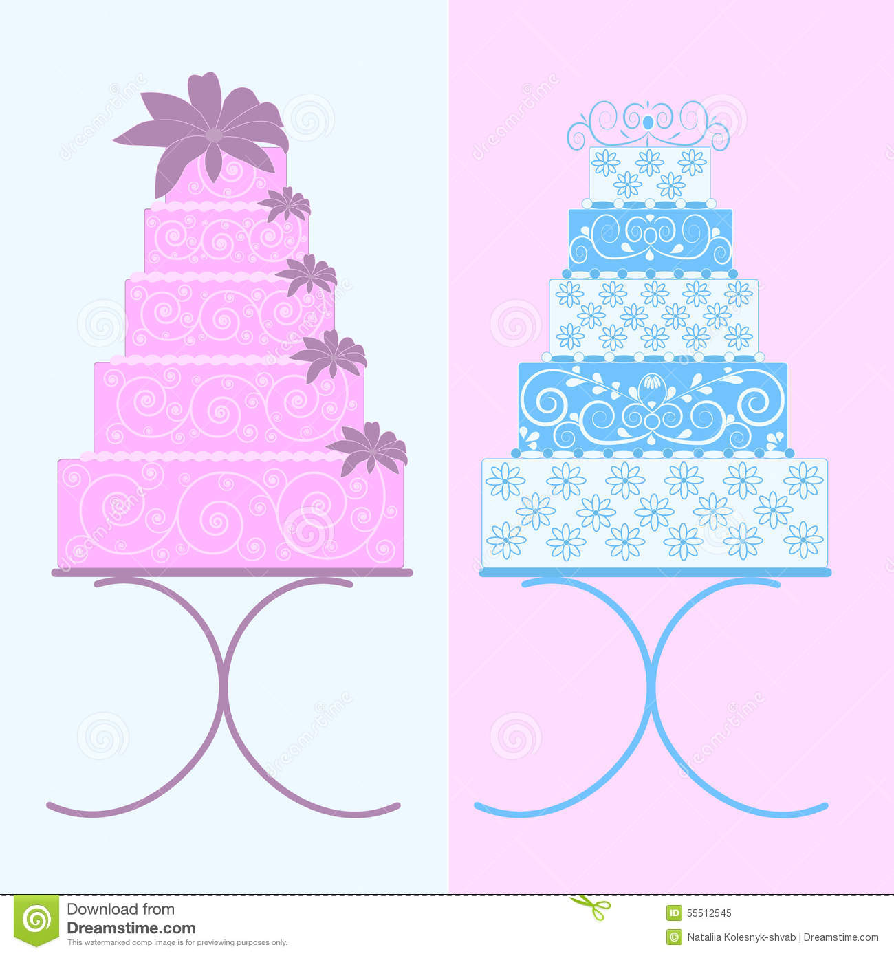 Cakes Big Stock Vector Image